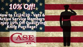Veterans & Active Military Members Enjoy 10% Off!