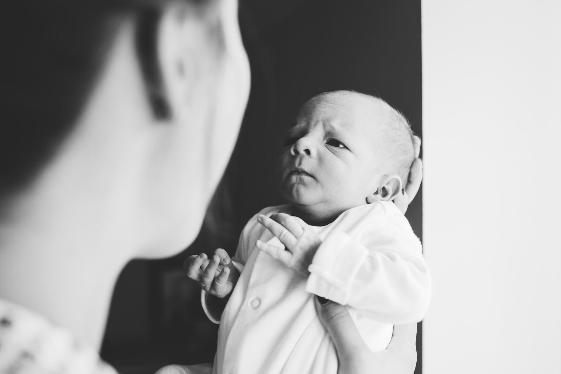 baby boy and mum