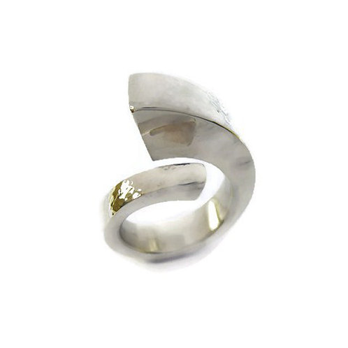 Single Spiral Silver Ring