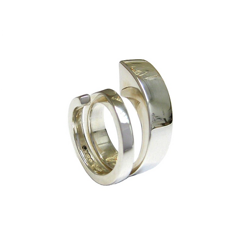 Double Spiral Silver Ring