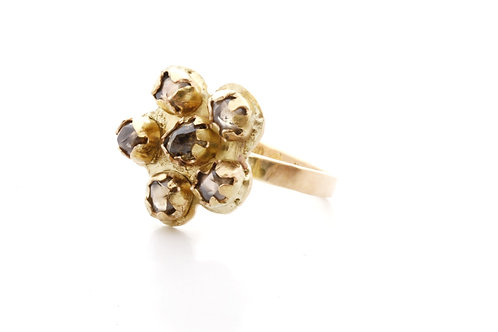 Fairmined Eco Gold Ring with Brown Diamonds