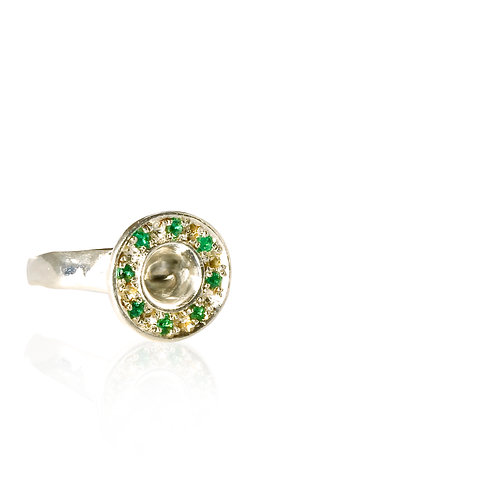 Emerald Signet of Life Silver