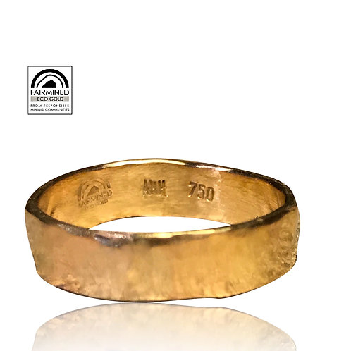 Hammered ECO Gold Ring