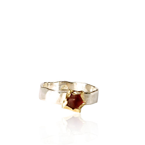 Hammered Spinel Ring