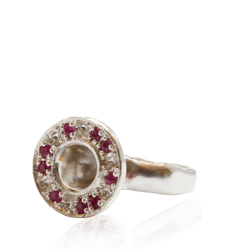 Ruby Signet of Life Silver
