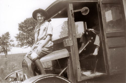 Jill & Doc w/ old Ford
