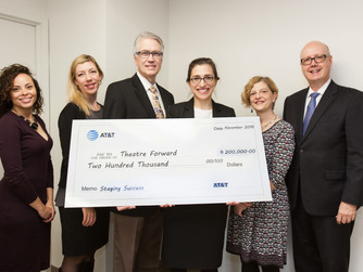 THEATRE FORWARD Receives AT&T Contribution to Support STAGING SUCCESS Initiative