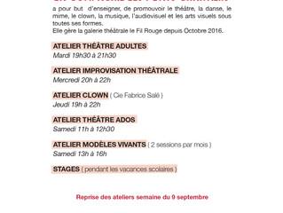 LA RENTRÉE DES ATELIERS 2019/2020