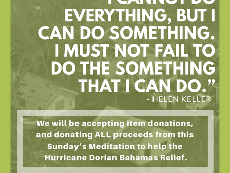 Hurricane Dorian: Accepting Bahamas Relief Donations