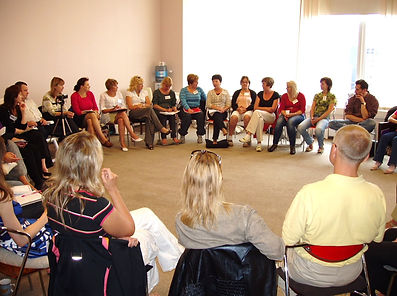 Discussion at a training