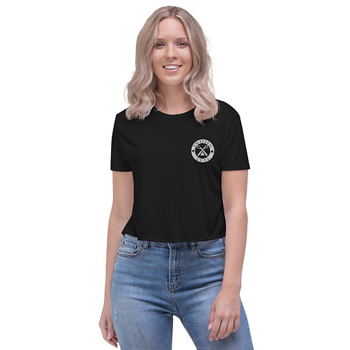 Embroidered Logo Crop Tee