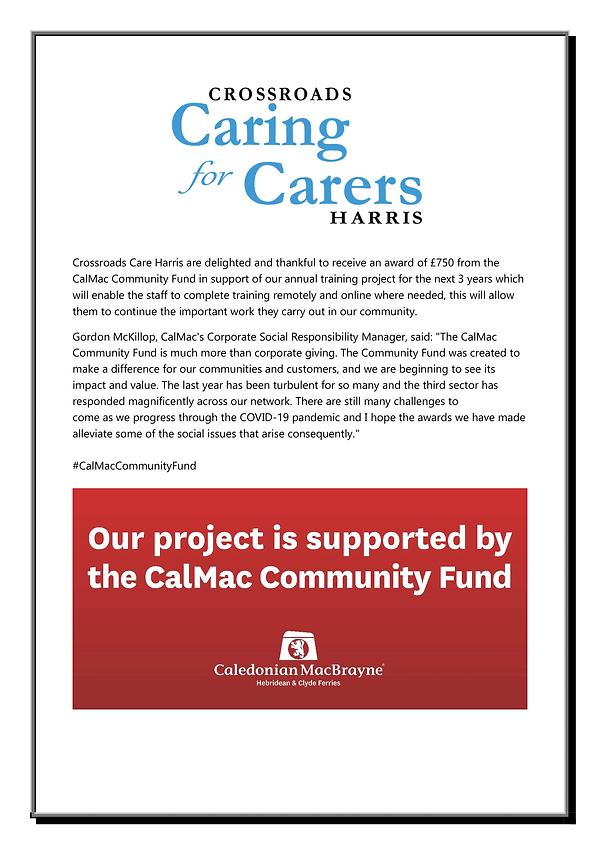 Calmac Award 2021