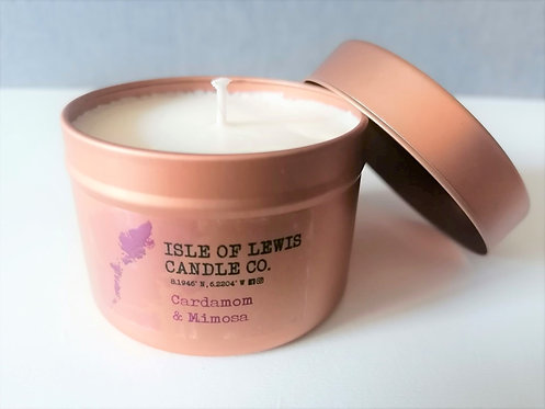 Small Rose Gold Tin Candle