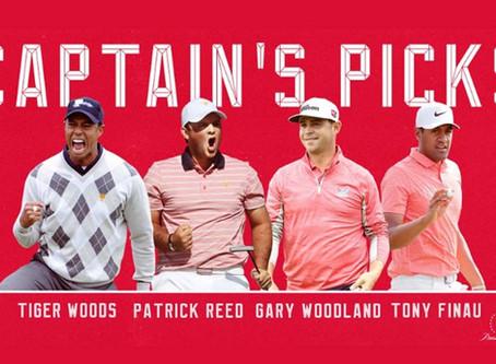 Woods announces Presidents Cup Captain's picks
