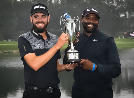Troy Merritt and caddie Wayne Birch | Shon Crewe & Jim Moore Featured Guest