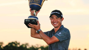 Collin Morikawa pars the 18th to clinch victory at WGC-Workday