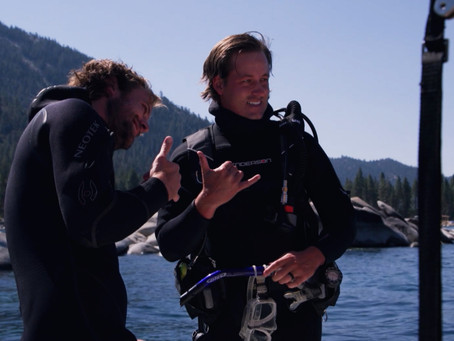Andrew Putnam scuba dives and helps 'Clean Up the Lake'