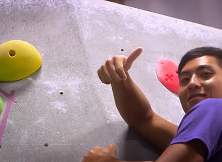 C.T. Pan goes rock-climbing