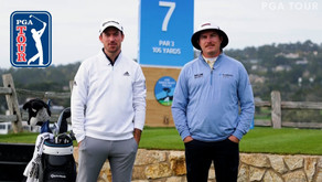 Nick Taylor and Joel Dahmen play No. 7 with seven clubs at Pebble Beach
