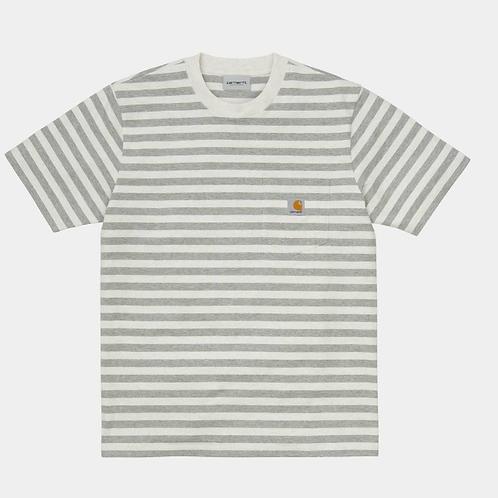 T-shirt korte mouw contrastkleur strepen van Carhartt