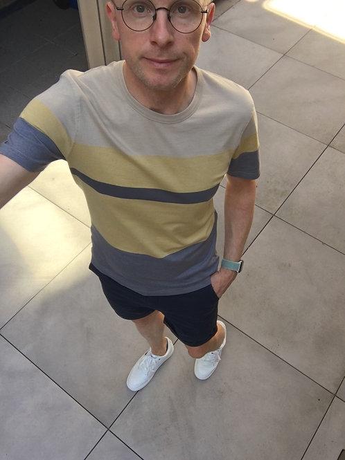 T-shirt korte mouw strepen Selected Homme