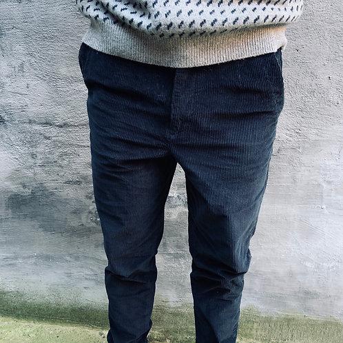 Slim tapered velours broek Selected Homme