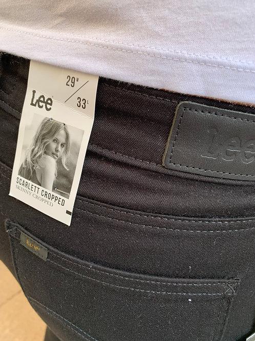 Scarlett cropped jeans black rinse