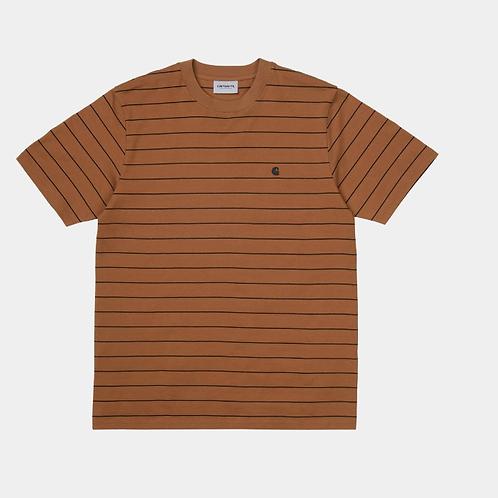 T-shirt korte mouw met streep Carhartt