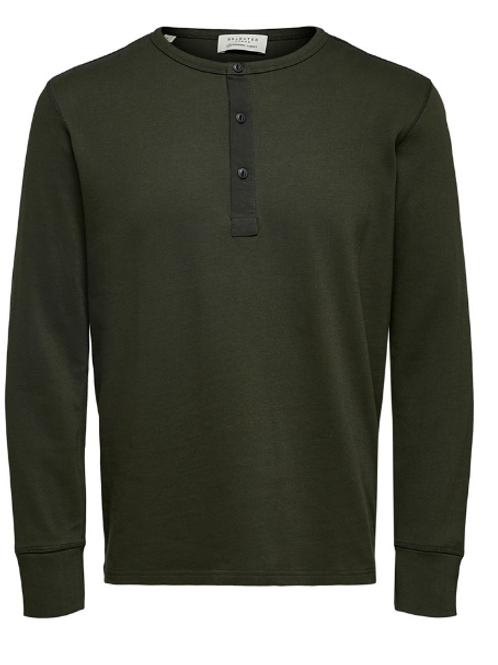Fijne sweater knopenkraagje Selected