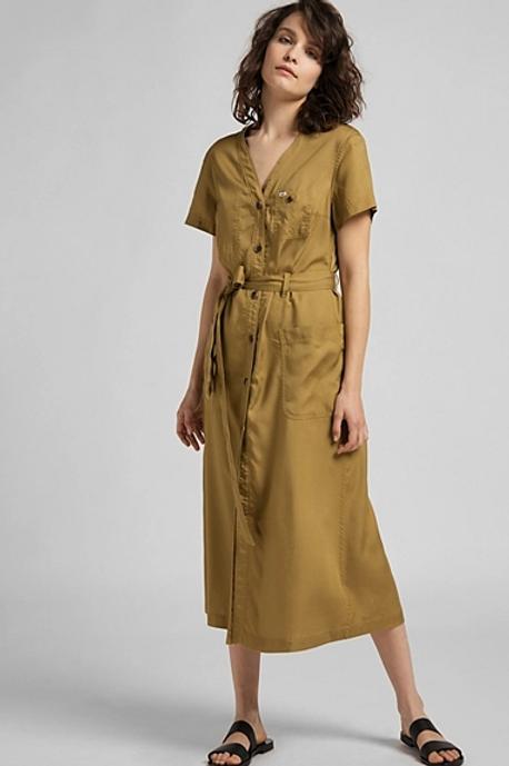Safari kleedje korte mouw van Lee