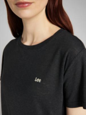 Losse t-shirt ronde nek met linnen van Lee