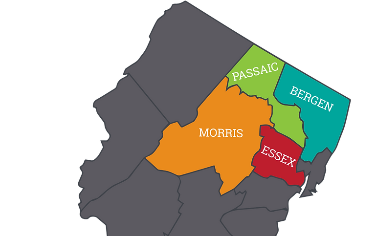 Jersey Cardinal Cleaning Areas Served Map