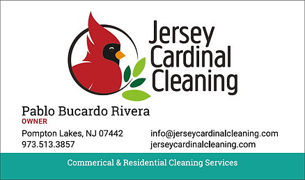 Jersey Cardinal Cleaning Business Card