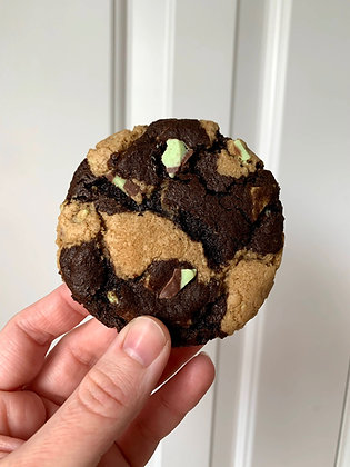Marbled Mint Chocolate Cookies