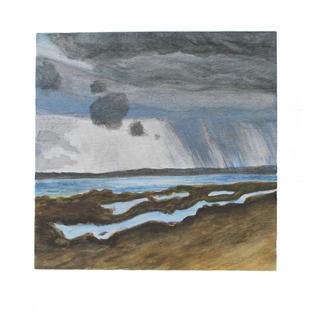 "Rain clouds 12"" x 12"" watercolor"