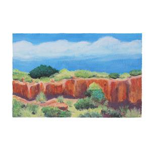 "New Mexico Ravine 12"" x 9"" acrylic on paper"