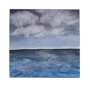 """Ocean and clouds 12"""" x 12"""" watercolor SOLD"""