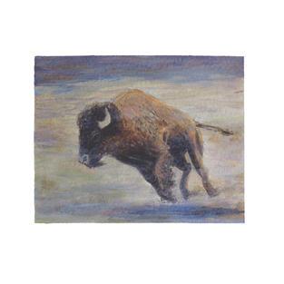 "Running Buffalo 12"" x 9"" acrylic on paper SOLD"