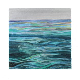 """Aqua undulations 12"""" x 12"""" watercolor"""