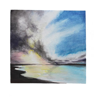 """Touching sky 12"""" x 12"""" watercolor SOLD"""