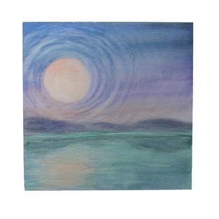 "Moon rings 12"" x 12"" watercolor SOLD"