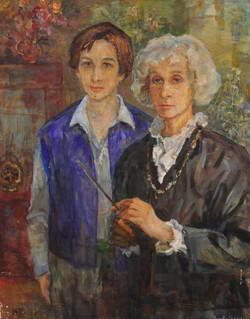 Автопортрет с внуком Петей