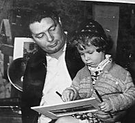 С младшей дочеью - Галей . 1958г