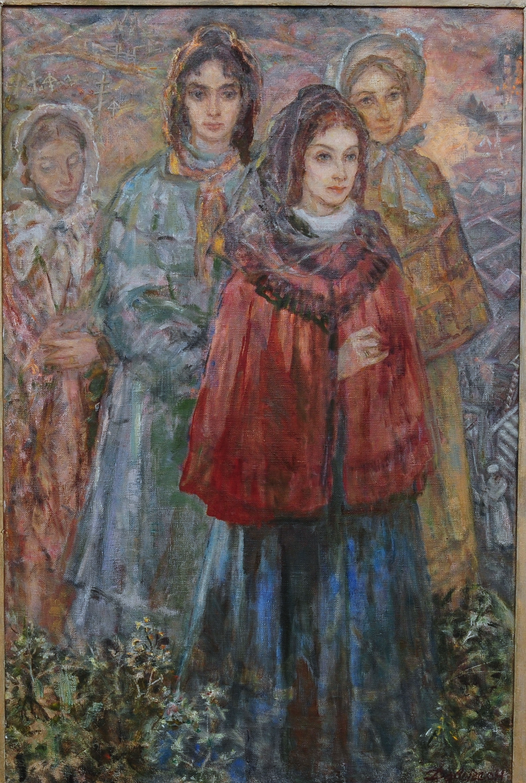 Жены декабристов. 1998г.,х\м,120х80