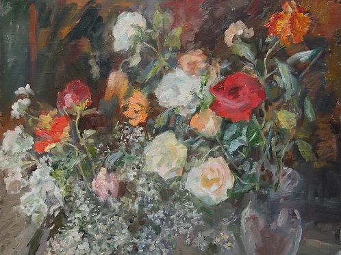 Пестрые розы