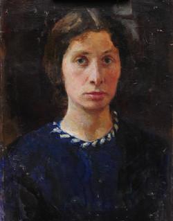 Автопортрет. х\м.1947г.