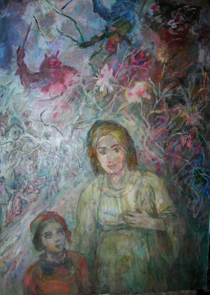Цветок надежды . х/м 2002г