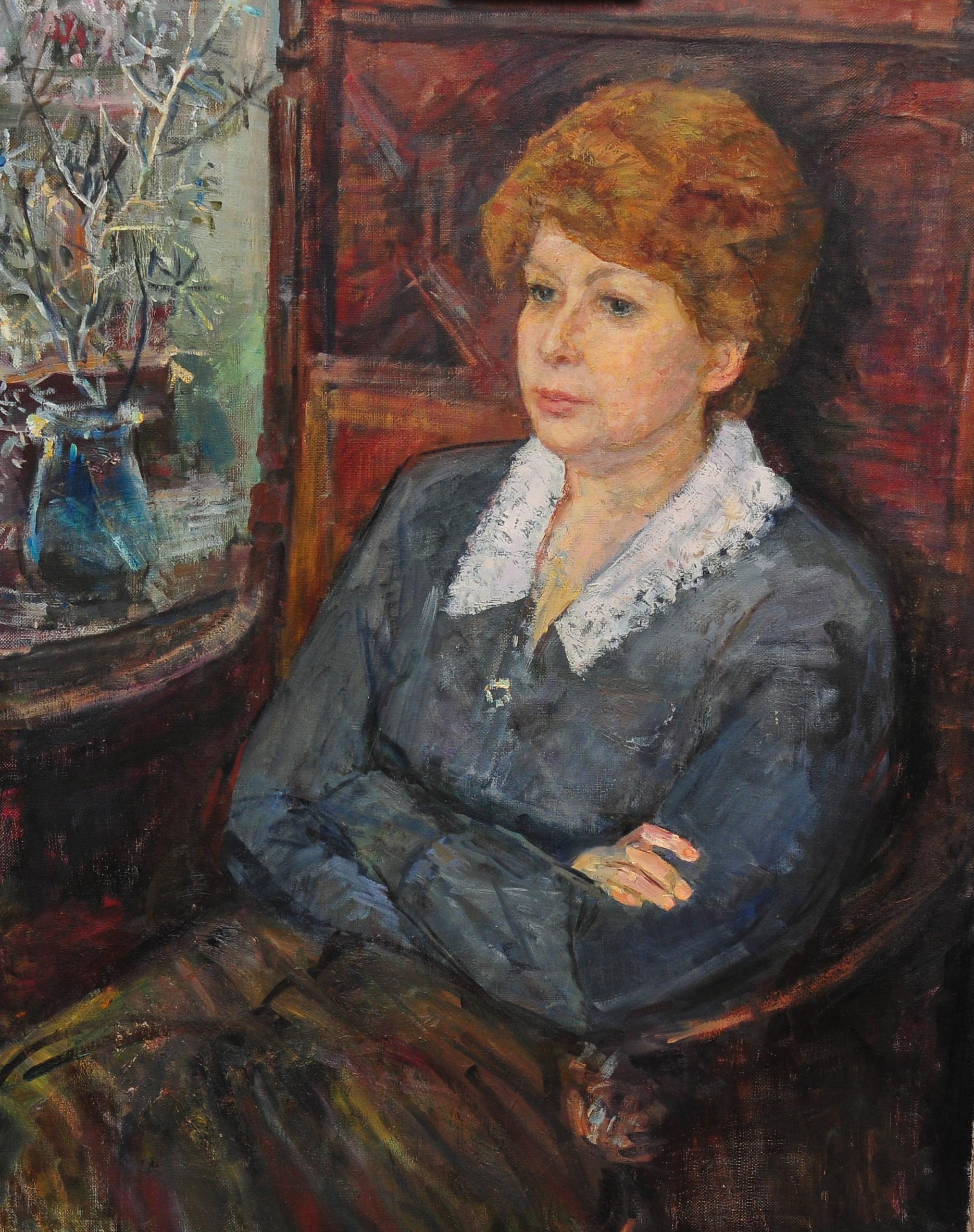 женский портрет. 1968г.100х80 х/м