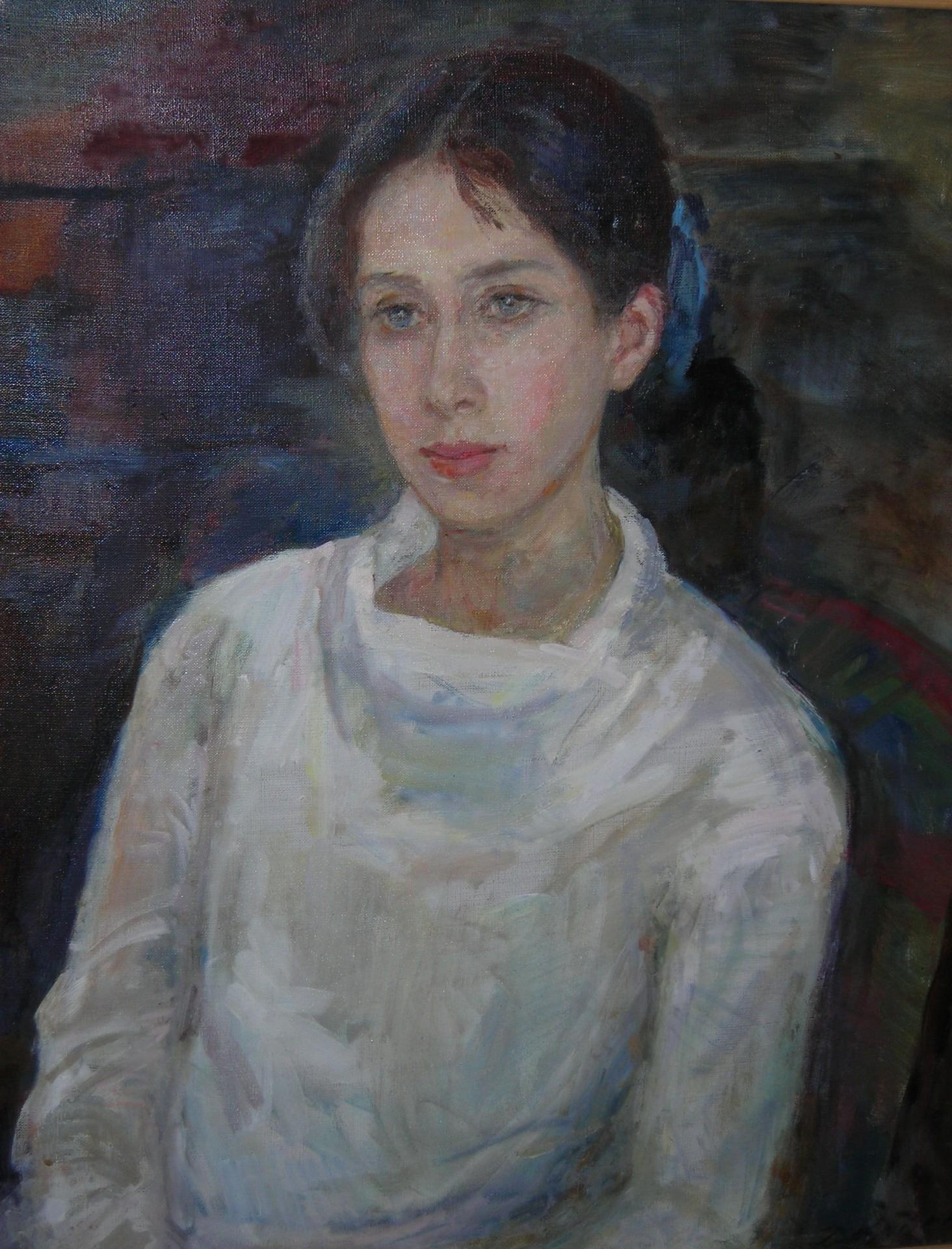 Портрет Верочки. 2001г. 75х60.х/м