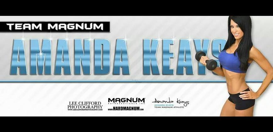 Hard Magnum banner feat. Amanda Keays